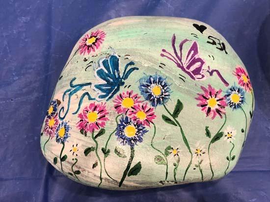 Butterflies and Flowers Rocks